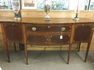 American Hepplewhite style mahogany serpentine front sideboard Centennial c1875