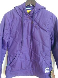 Ladies Under Purple Armour Jacket Coat Cold Gear Small with Hood $64.38