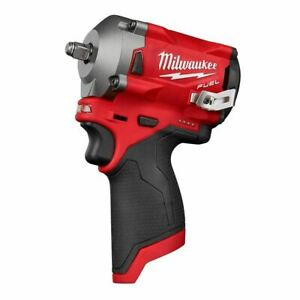 Milwaukee M12 FUEL Stubby 3 8 Impact Wrench Tool Only 2554 20 $170.99