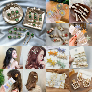 Fashion Women Pearl Plush Barrette Hair Clip Stick Hairpin Hair Accessories Gift
