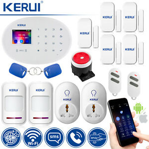 KERUI W20 Wireless GSM WiFi RFID Home Burglar Security Alarm System Smart Socket