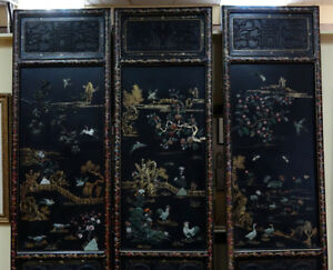 Important Palace-Size Late 19th or Early 20th Century Chinese Black Lacquer Wood