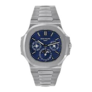 Patek Philippe Nautilus 40mm 18K White Gold Blue Dial Watch 57401G-001 Unworn
