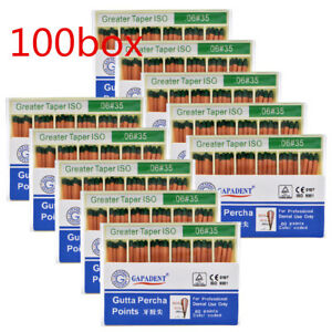 100Boxes Dental Gutta Percha Point 0.06 35# Zinc Oxide Barium Sulfate