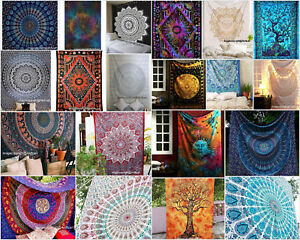 Indian Mandala Wall Hanging Twin Tapestry Bohemian Bedspread Beach Blanket Throw