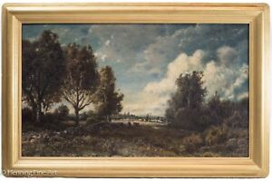 Patrick Vincent Berry Antique Signed Oil Painting of American Landscape w Cows!