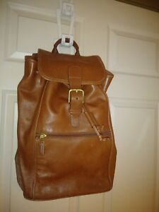 COACH XL Brown Leather Classic Drawstring Buckle  Backpack #0529