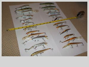 Lot of 24 Rapala Rebel Other Fishing Lures
