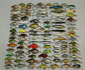 Huge Mixed Lure Lot Of 100 Fishing Lures