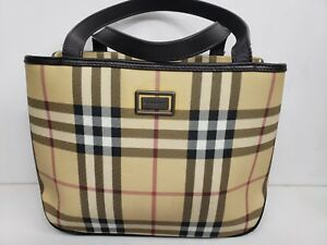 Womens Burberry Plaid Handbag