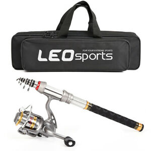 Telescopic Spinning Fishing Rod And Reel Combo Package Saltwater Freshwater Set