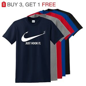 Nike Slogan t shirt,Just Hook It ADULT funny T shirt,Meme Swoosh Sports Men's $9.95