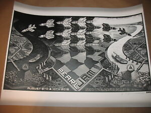 PEARL JAM POSTER EMEK  SEATTLE 2018 SIGNED WITH SKULL AND PYRAMID DOODLES
