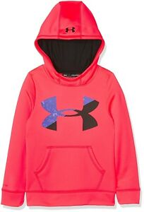 (X-Large Penta Pink) - Under Armour Girls' Fleece Big Logo Hoody. Free Delivery