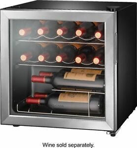 Insignia 14 Bottle Wine Cooler Stainless steel $124.99