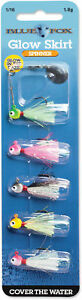 Blue Fox Glow Skirt Spin Kit 116 oz. - Bass Trout Crappie & Panfish Lure