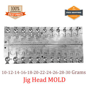 Fishing JigHead Mold Lead Jig Head Sinker Weights 11 cavity (10 - 30 G)