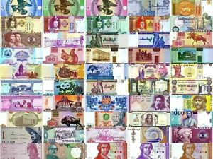 World Currency Uncirculated Banknote Set Lot of 50 $19.32