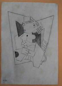 ORIGINAL DRAWINGS DATED 1909 EARLY CUBISM AFTER BRAQUE PICASO $270000.00