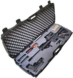 Heavy Duty Hard Case Durable Protective Carrier Rifle Bullet Handgun Storage Blk