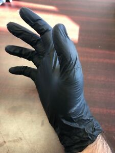 Nitrile Disposable Gloves Powder-Free Non-Medical 3.5 Mil Black