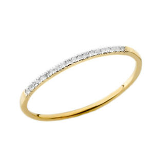 0.04 CTW Dainty Diamond Band Ring in Yellow Gold
