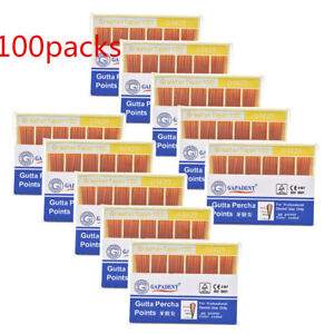 100X Dental Gutta Percha Point 0.04 20# Zinc Oxide Barium Sulfate 60 PointsBox