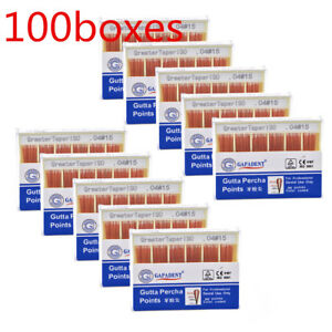 100Boxes Dental Gutta Percha Point 0.04 15# Zinc Oxide Barium Sulfate