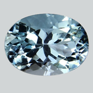 4.97Cts Wonderful Rich Luster Natural Aquamarine Oval Shape Sea Blue Color Gems