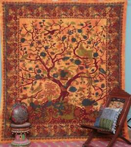 Best Christmas Gift Tree of life Indian Mandala Wall Hanging Art Cotton Tapestry
