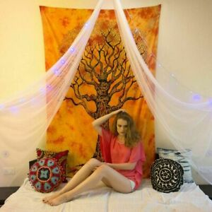 Indian Mandala Wall Hanging Tree of life Hippie Cotton Bedspread Twin Tapestry
