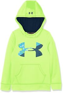 (X-Large Quirky Lime) - Under Armour Girls' Fleece Big Logo Hoody