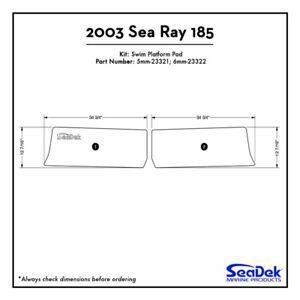 2003 Sea Ray 185 - SeaDek Swim Platform Traction Pads - Custom Design  Colors