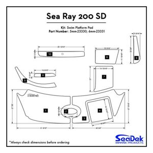 Sea Ray 200 SD - SeaDek Swim Platform Traction Pads - Custom Design  Colors