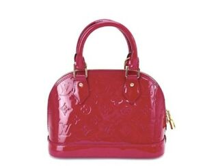 LOUIS VUITTON Vernis Alma BB Handbag Indian Rose M91771 Handheld or with Strap