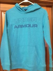 UNDER ARMOUR GIRLS YOUTH HOODIE YLG Youth Large Teal Green
