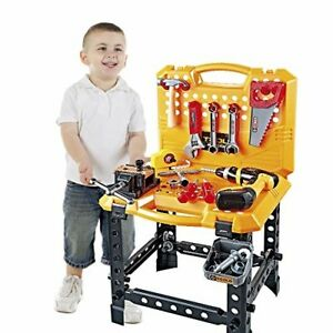 Kids Construction Toy Power Workbench for Boys 120 Pieces Toddlers Power Tool B