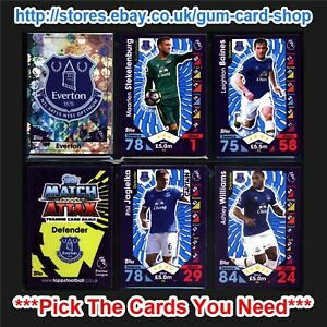 Match Attax 20162017 (TEAMS E to L) *Please Choose Cards*