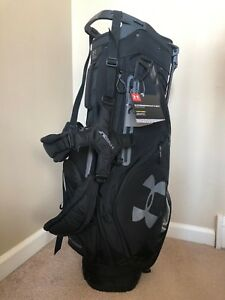 New with Tags Under Armour Storm Match Play 14 Stand Golf Bag Black