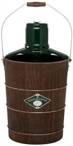 Electric Ice Cream Maker 6 Qt Churning Stainless Steel Pine Bucket Old Fashioned