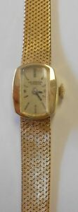 Rare Universal Geneve 14K Solid Gold Case & Band Womens Watch 17J Vintage 6.5