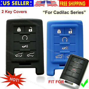 2Pcs Silicone Cover Holder Protector Remote Control Smart Case for Cadillac Key $11.99