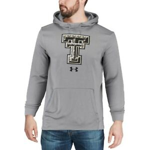 Men's Under Armour Heathered Gray Texas Tech Red Raiders Camo Pullover Hoodie