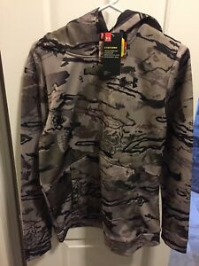 NWT Youth Boys Under Armour 1286119 Logo Camo Hoodie Barren 59.99 Storm XL