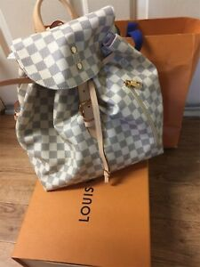 AUTHENTIC LOUIS VUITTON SPERONE BACKPACK BAG DAMIER AZUR N41578