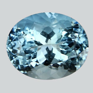2.51 Cts Wonderful Rich Luster Natural Fine Aquamarine Sea Blue Color OvalShape