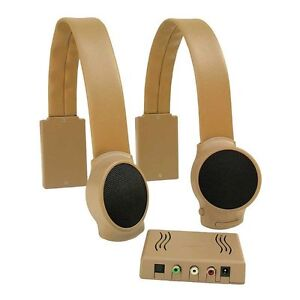 Audio Fox Wireless TV Speakers - Tan - FREE EXPEDITED SHIPPING
