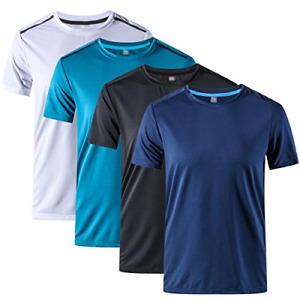 Men's Short Sleeve Quick Dry Sport T-Shirt Casual Training Fitness Tee Shirts 1
