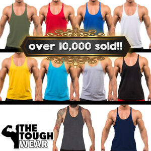 Gym Singlets Bodybuilding Tank Top Gym Stringer Y Back Muscle Race