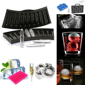 MULTI-SHAPE Ice Cube Mold Tray Silicone DIY Frozen Maker for Cocktail Whiskey